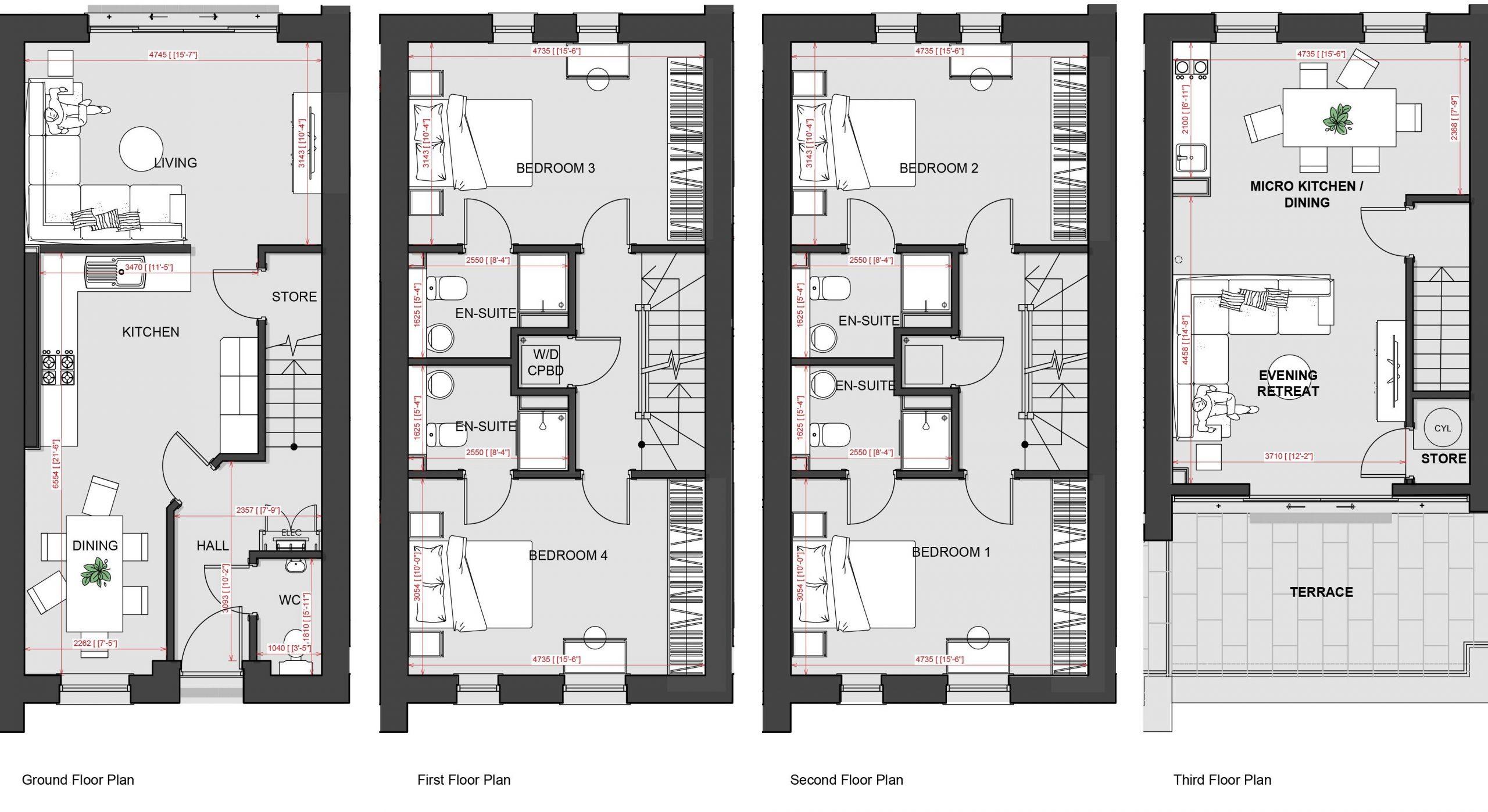 4 Bed 2 kits 2nd Lounge