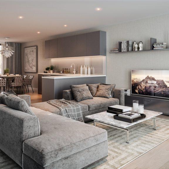 City Mews CGI Living Room