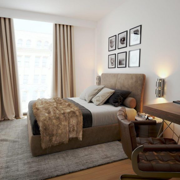 City Mews CGI Bedroom